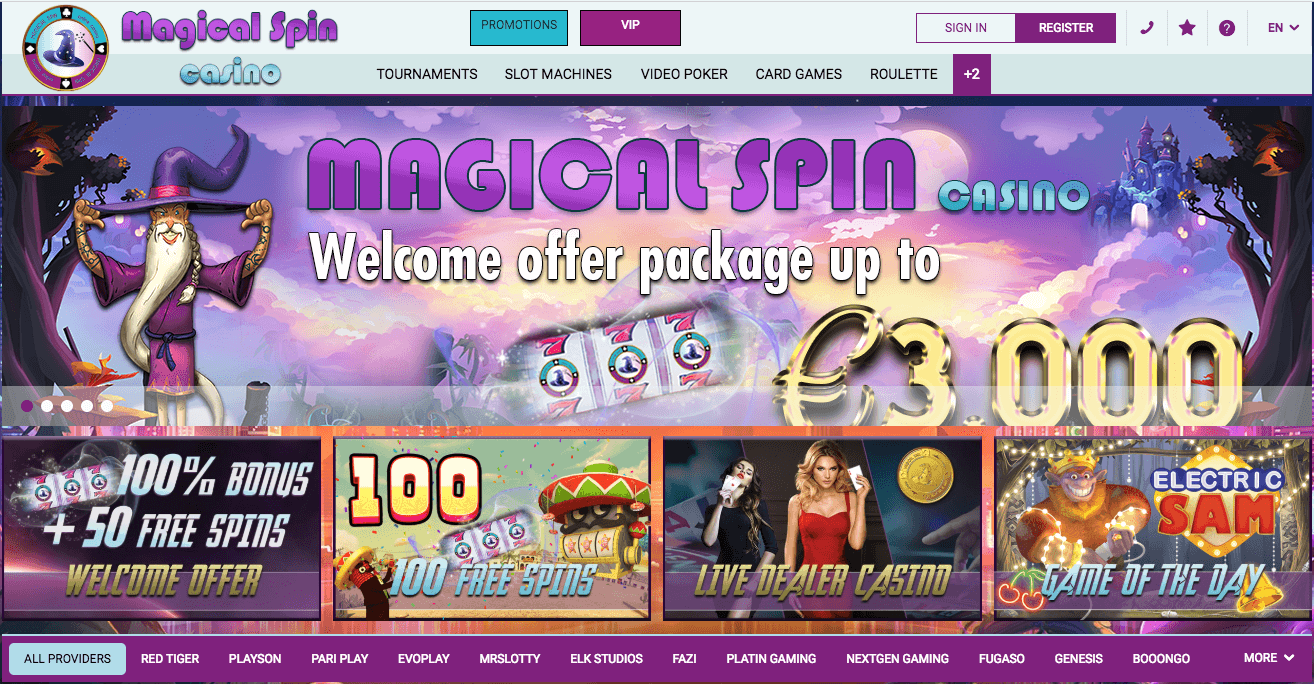 avis casino magical spin