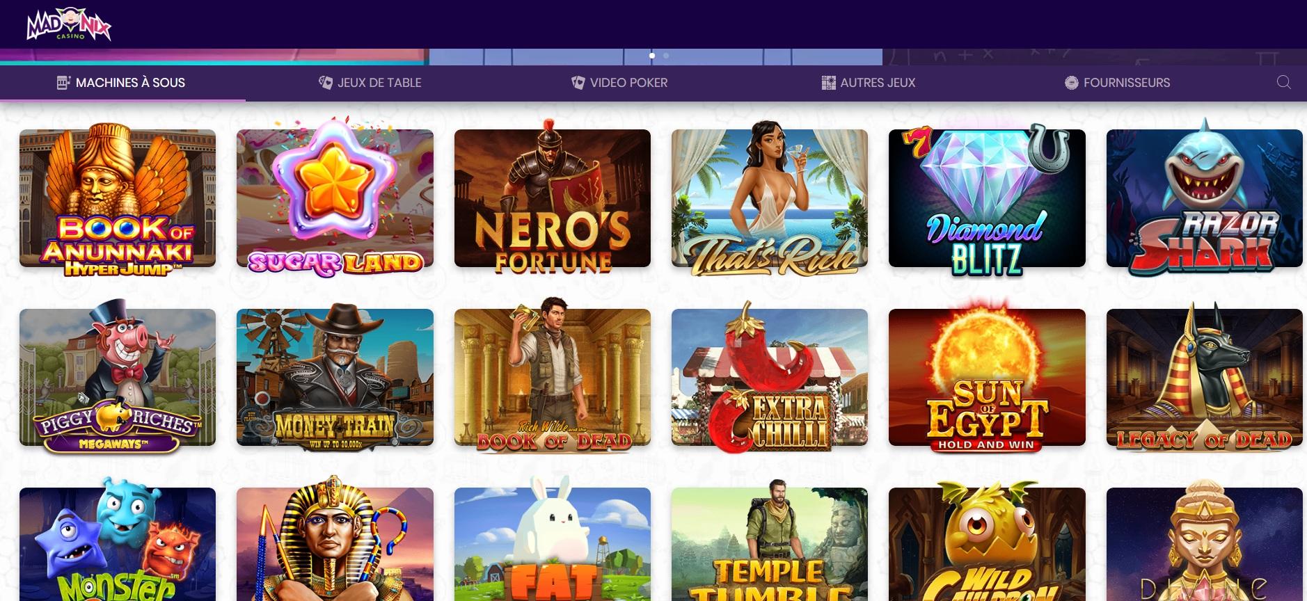 arnaque madnix casino